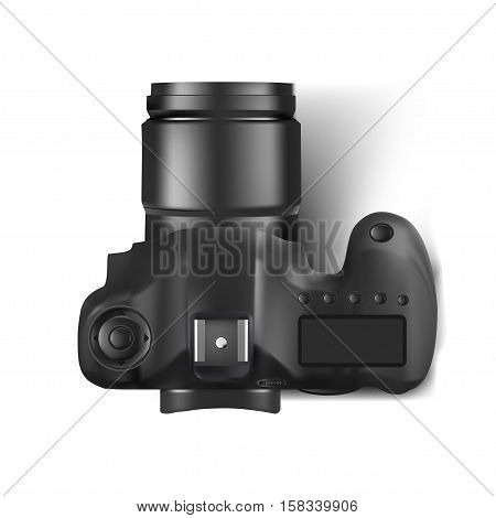 Vector illustration of Camera  isolated on white background