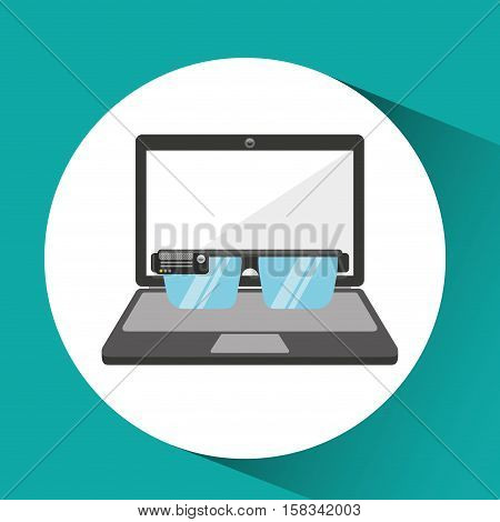 online store shopping smart glasses graphic vector illustration eps 10