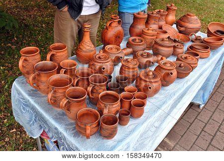 Beautiful Bright Brown Ceramic Handmade Works