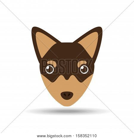 lovely head chihuahua puppy dog vector illustration eps 10