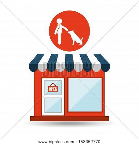 pet shop with avatar dog obedience vector illustration eps 10