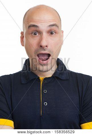 Shocked Funny Bald Dude