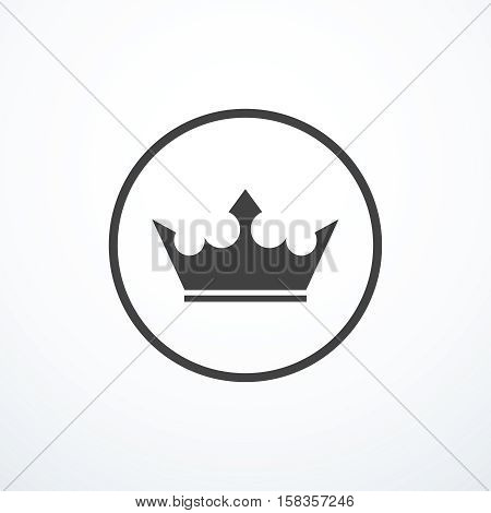 Vector crown icon. Vector illustration eps 10