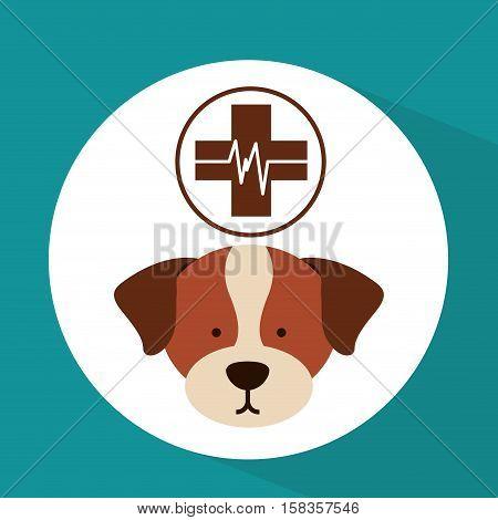 veterinary dog care clinic icon vector illustration eps 10