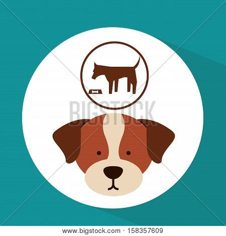 veterinary dog care food icon vector illustration eps 10