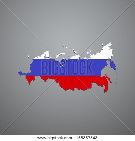 Vector Russian Federation map. Vector illustration eps 10