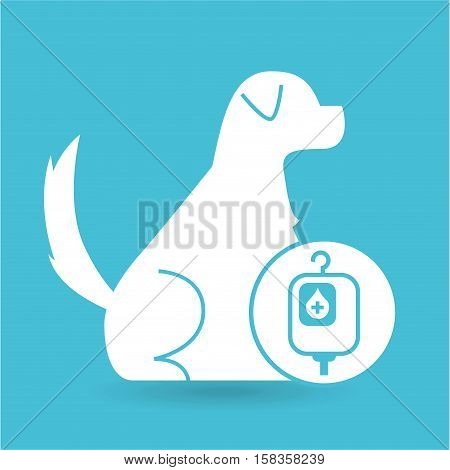 veterinary clinic concept bag blood vector illustration eps 10
