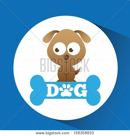 lovely puppy dog icon vector illustration eps 10
