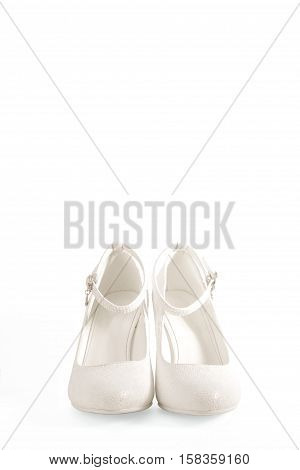 women's white shoes on a white background