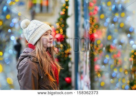Girl At Christmas Market
