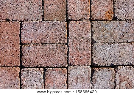 Red Bricks with Pattern of One Two Five