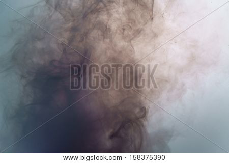 acrylic pink color in muddy water, abstract background