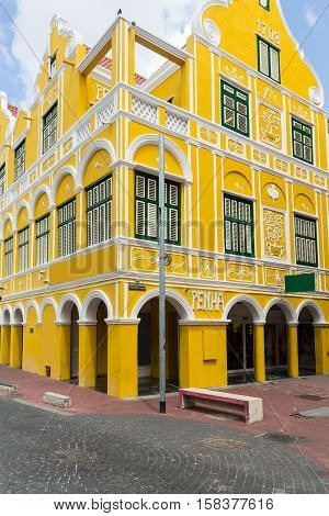 Downtown Willemstad in the Dutch Antilles of Curacao