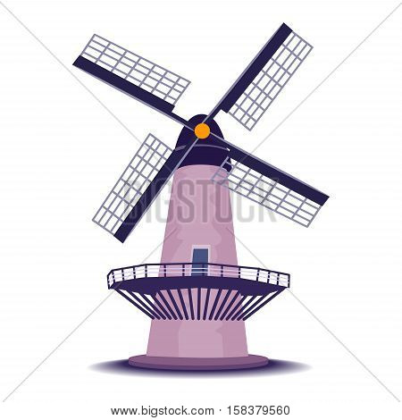 Stock Vector Illustration of Isolated Windmill Tower