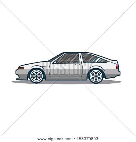 Old japan sport car. Vector illustration eps 10