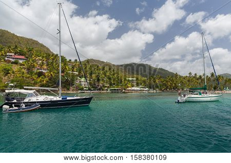 Taken from a Catamaran off the coast of St Lucia