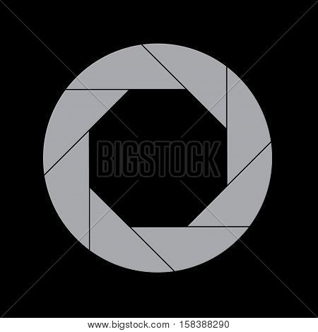 Forty Percent Gray Shutter Icon Isolated on Black