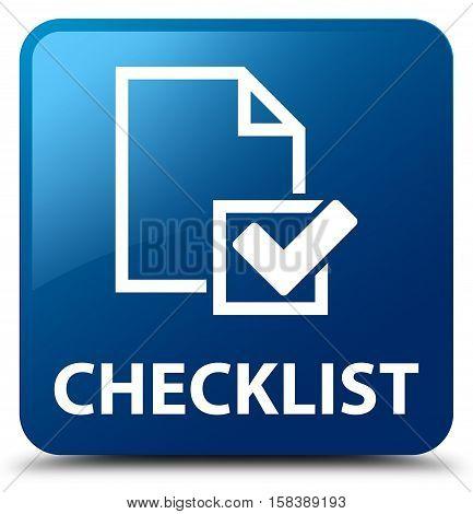 Checklist (checkbox icon) on blue square button