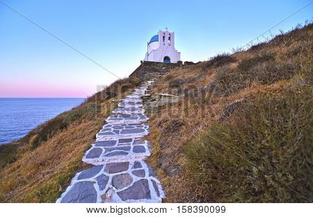 the church of the Seven Martyrs Sifnos island Greece