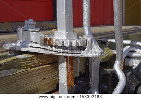 Railroad Caboose breaking system; manual braking key