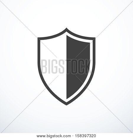 Vector shield icon. Vector illustration eps 10