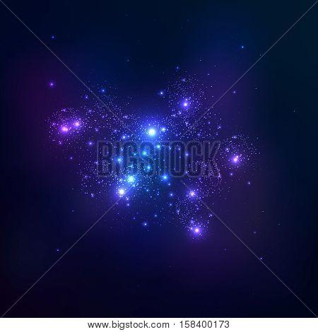 Vector space background. Star cluster. Vector illustration eps 10