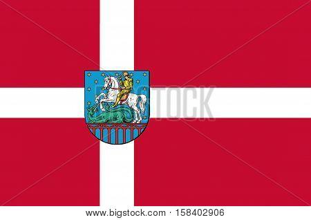 Flag of Holstebro in Central Jutland Region in Denmark