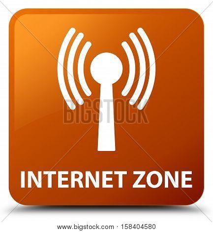 Internet zone (wlan network) brown square button