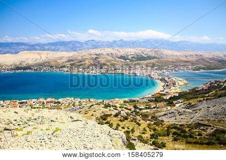 Insel Pag, Kroatien, Stadt, Pag, Adria, Zadar, Himmel, Blau, Steine, Karg