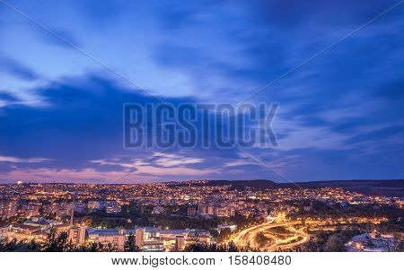 Cityscape during dusk and some cityscapes made during day light