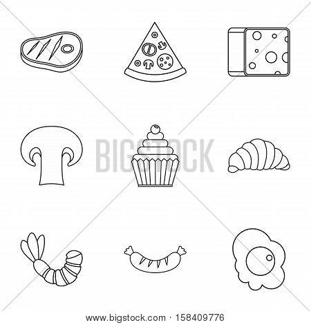Brunch icons set. Outline illustration of 9 brunch vector icons for web