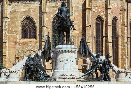 King Matthias Corvin Statue