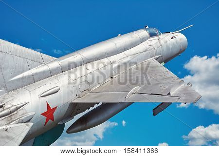 Image of Fighter Aircraft against the Blue Sky