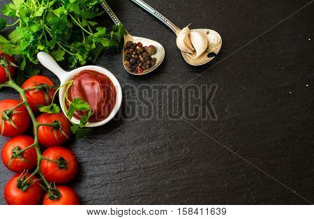 Tomato Ketchup Sauce In A Bowl