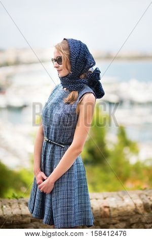 Elegant French Woman In Cannes