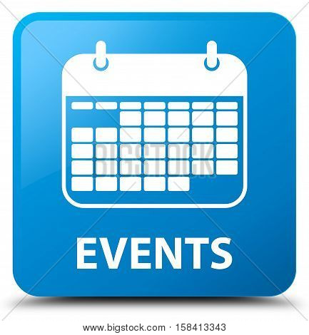 Events (calendar icon) cyan blue square button