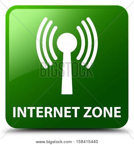 Internet Zone (wlan Network) Green Square Button