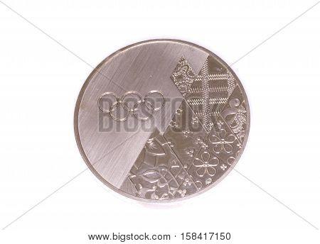 Sochi 2014 Winter Olympic Games Participation Medal, Reverse. Kouvola, Finland 06.09.2016.