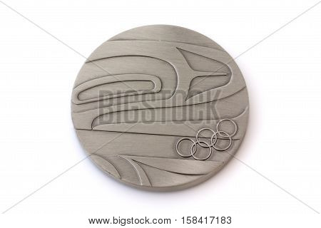 Vancouver 2010 Winter Olympic Games Participation medal reverse Kouvola Finland 06.09.2016