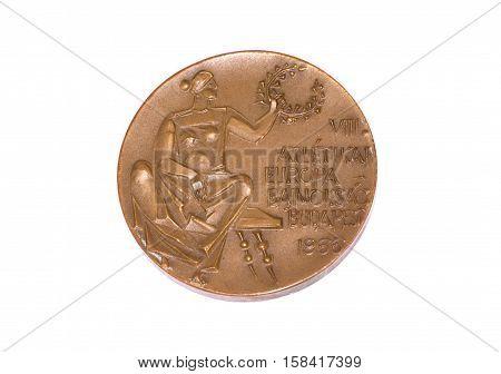 Budapest 1966 Athletics European Championships Participation Medal, Obverse. Kouvola, Finland 06.09.
