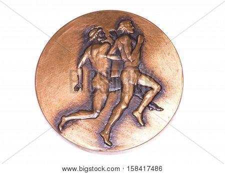 Athens 1982 Athletics European Championships Participation Medal, Reverse. Kouvola, Finland 06.09.20