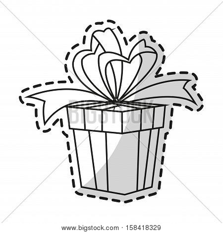 Gift icon. Happy birthday celebration decoration and party theme. Isolated design. Vector illustration