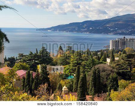 View of Nikita Botanical Garden and Yalta Bay Crimea