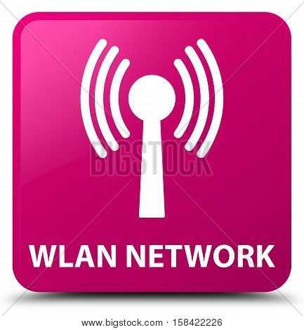 Wlan network (signal icon) pink square button