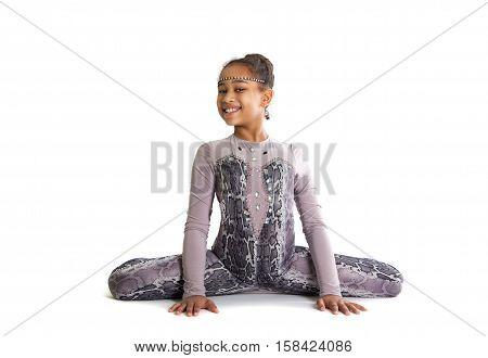 Little Girl Doing Gymnastics