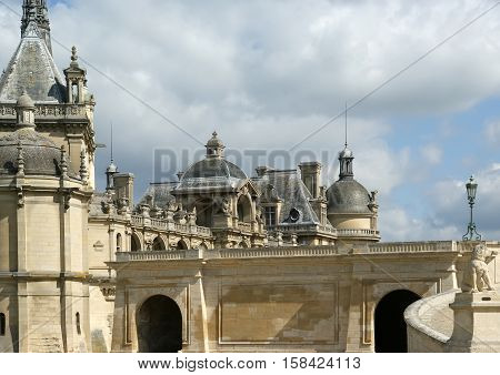 France- May 12: Chateau De Chantilly On May 12, 2012 In Picardie, France. Chateau De Chantilly ( Cha