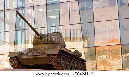 fighting vehicle tank of his armor is very strong weapon for the destruction of life on earth is our social problems of war
