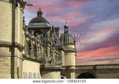 Chateau De Chantilly ( Chantilly Castle ), Oise, Picardie, France