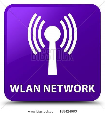 Wlan network isolated on abstract purple square button