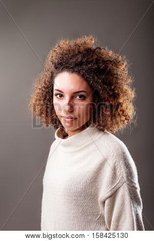 Intense Look Of A Normal Woman